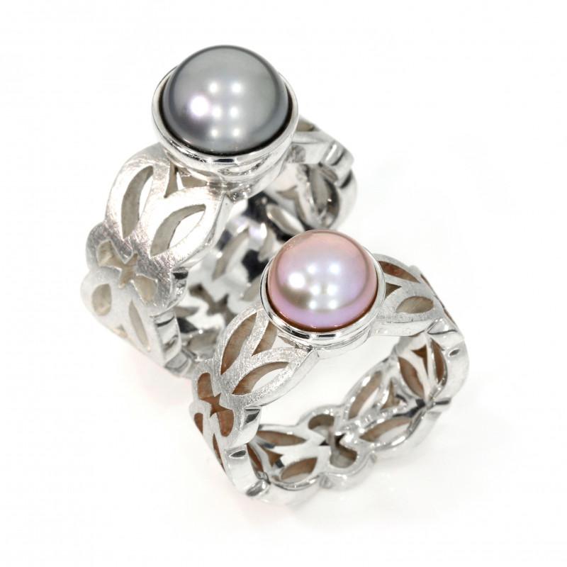 Ornamentring Silber Perle (250747 250196)