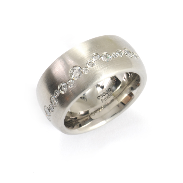 Verlobungsring Palladium Brillanten (250760)